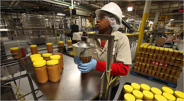 Peanut butter recalled, food safety finances slashed